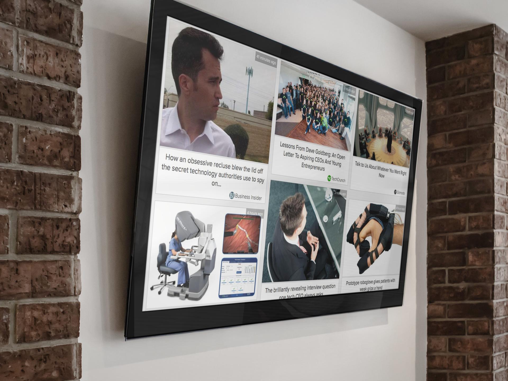 industry news on office tvs