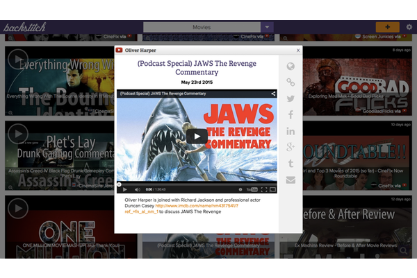 aggregate youtube videos, flickr albums, and instagram photos