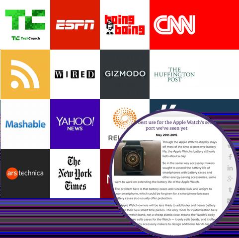 follow top news publications, blogs, and journals
